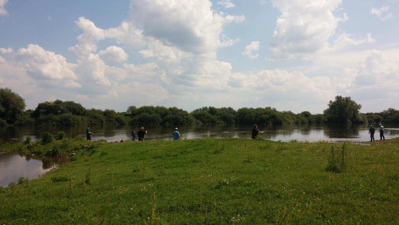 Gemeinsames Treffen an der Weser
