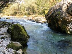 Die Sava in Slowenien