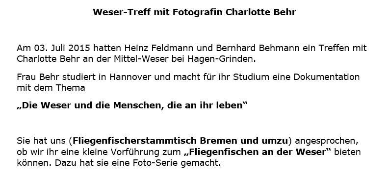 Treffen mit Fotografin Charlotte Behr