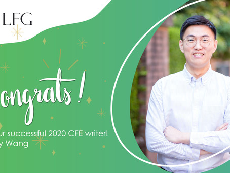 Congratulations to our successful CFE writer!