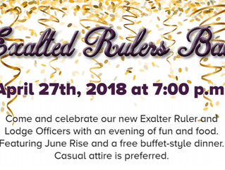 2018 Exalted Ruler Ball