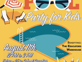 Back to School Pool Party for Kids!