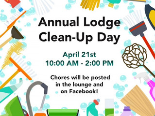 Annual Lodge Clean Up Day