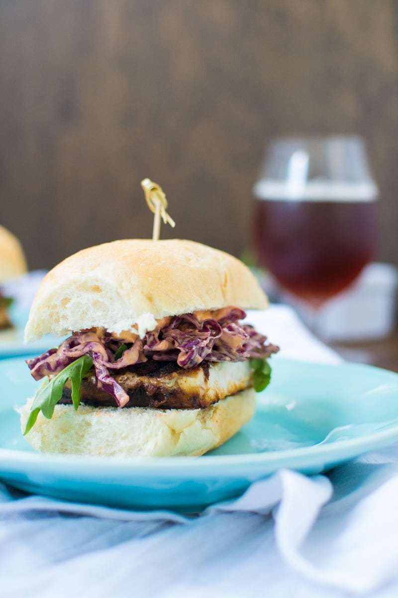 Blackened Swordfish Sandwiches