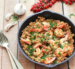 Garlic Shrimp and Quinoa