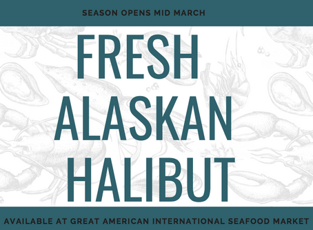 Fresh Wild Caught Alaskan Halibut Season - Opens Mid March