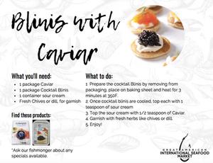 blinis with caviar recipe