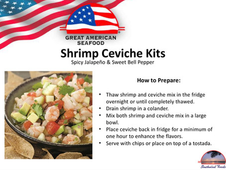 All About Ceviche - Southwind Foods / Great American Seafood Imports Co.