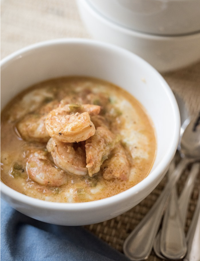 Shrimp & Cheesy-Chive Grits