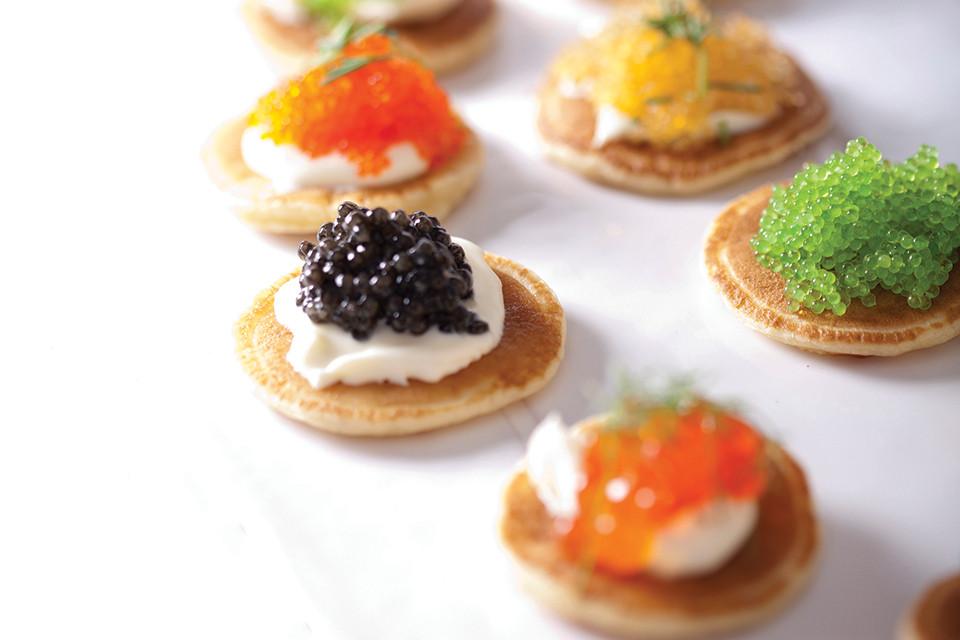 Caviar on blini photo