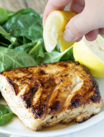 Grilled Halibut with Honey and Lemo