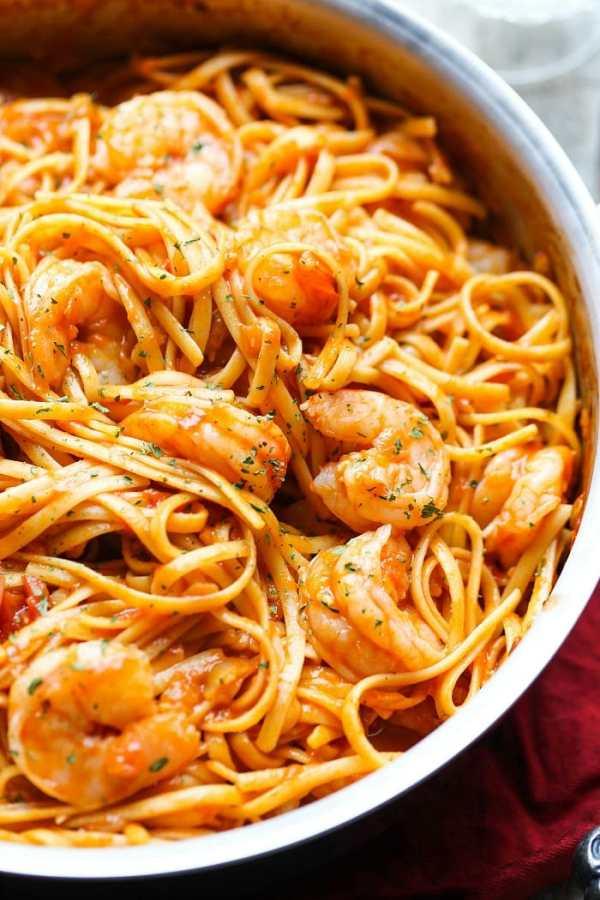 One Pot Shrimp Pasta Recipe