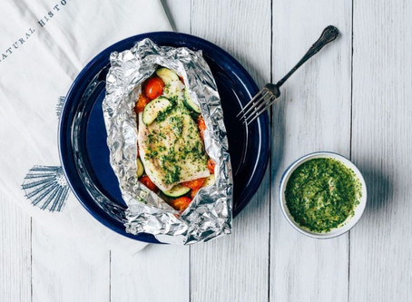 Wild Caught Pacific Pollock en Papillote with Chimichurri Sauce