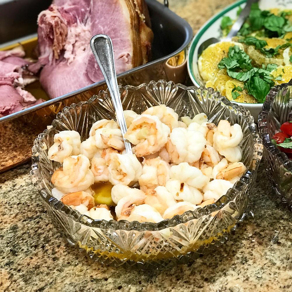 Family recipe hot garlic shrimp