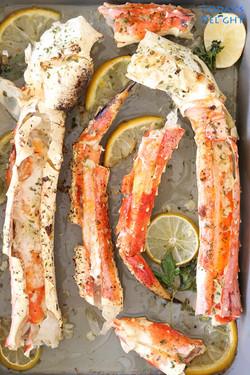 King Crab Legs in Garlic Butter