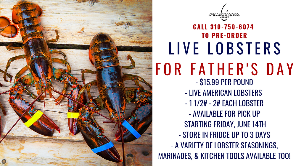 fathers day live lobster pre orders!