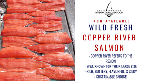 wild fresh copper river salmon now available at great american international seafood market
