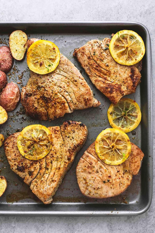 Ahit Tuna - Sheet Pan Recipe