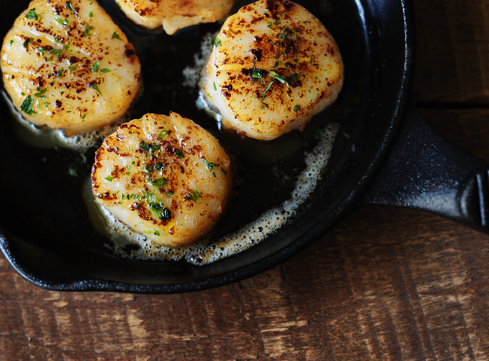 scallops - seafood cooking times