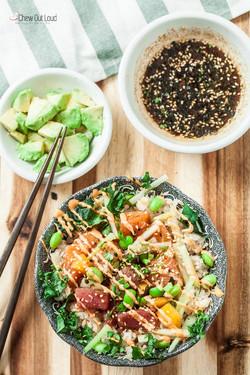 Healthy Poke Bowls (with Sriracha Ma