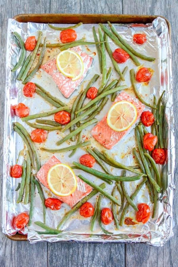 salmon sheet pan recipe, scottish salmon, great american international seafood market