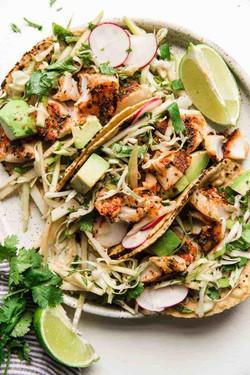 Smoky Paprika Fish Tacos with an Apple S