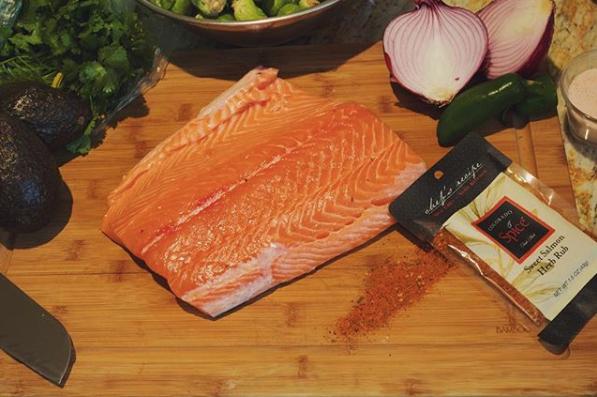 Salmon with Sweet Herb Rub