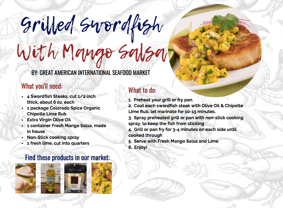 grilled swordfish with mango salsa recipe