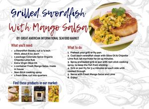 grilled swordfish with mango salsa recipe