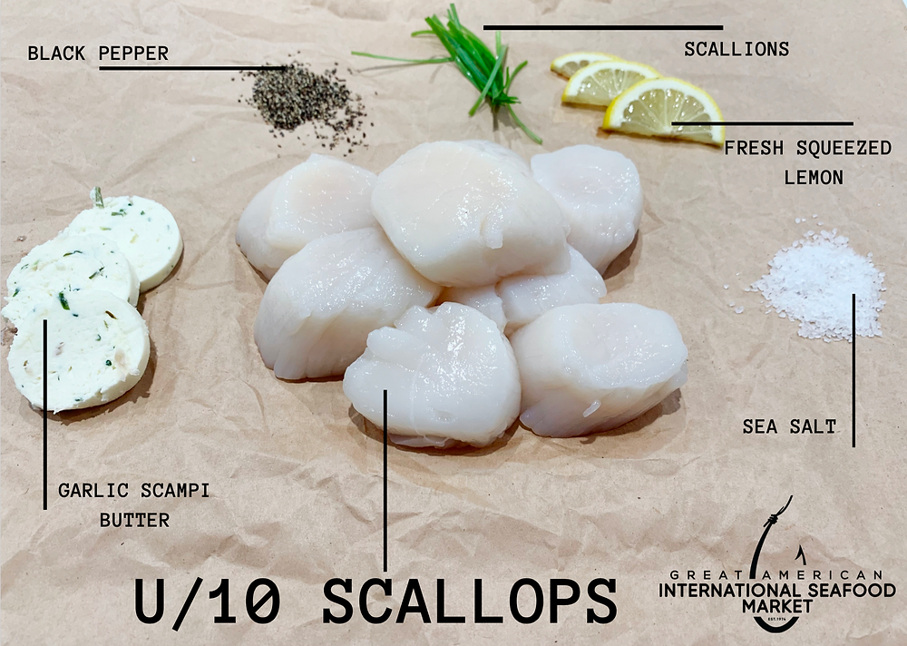 scallop recipe by Great american International Seafood Market