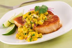 Swordfish with Mango Salsa