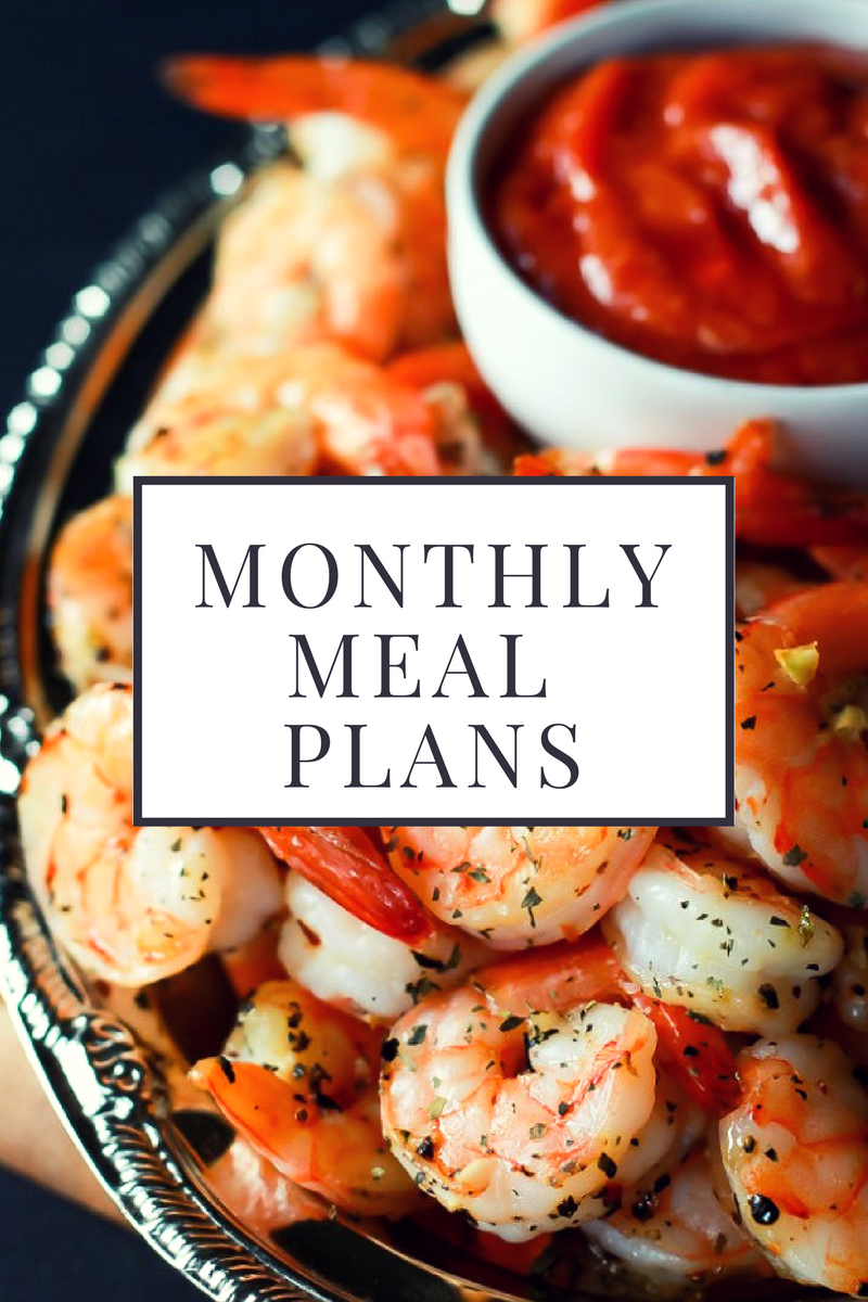 seafood monthly meal plans