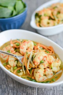 Shrimp Curry Noodle Bowls