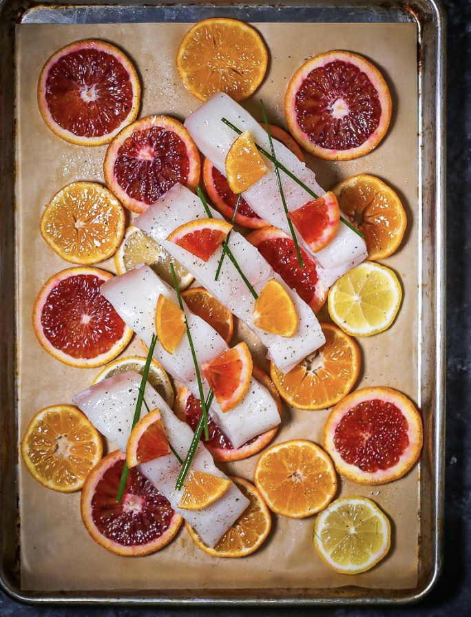 Roasted White Fish with Citrus