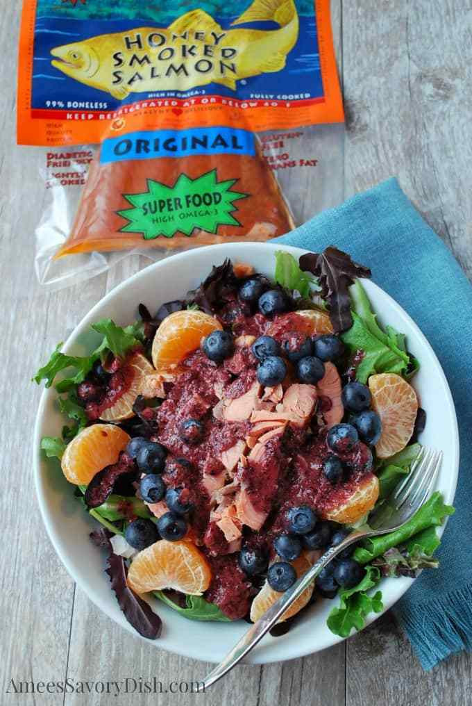 blueberry salmon salad