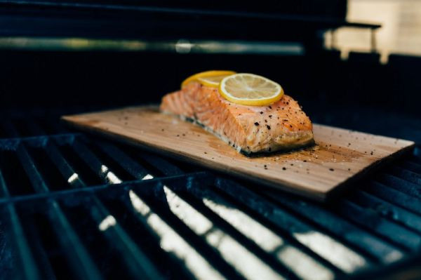 salmon, grilling