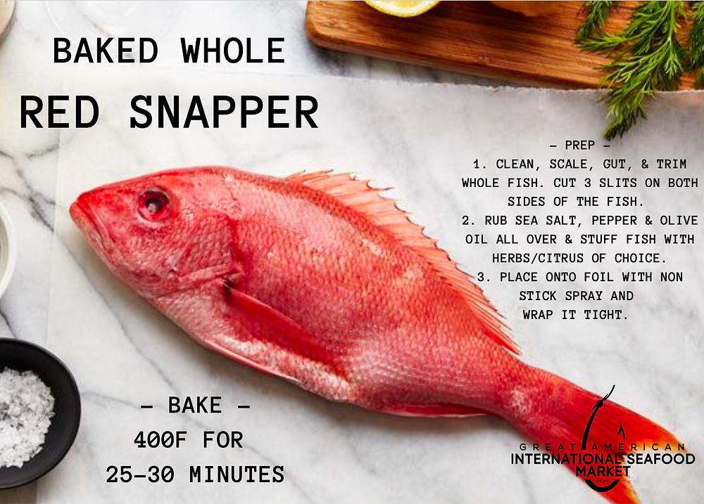 RED SNAPPER RECIPE
