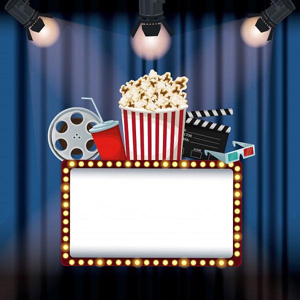 cinema-curtain-with-spotlights-billboard