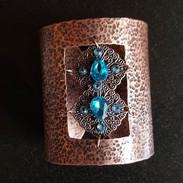 Custom Cuff, hammered antiqued copper._#
