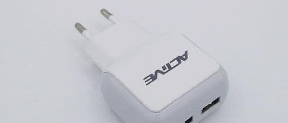 מתאם USB עם 2 יציאות