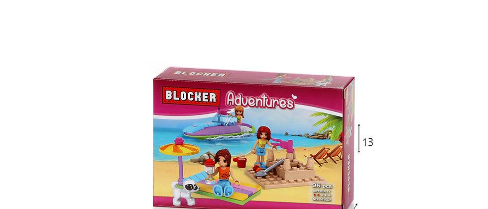בלוקר משחק הרכבה חוף ים 96 חלקים