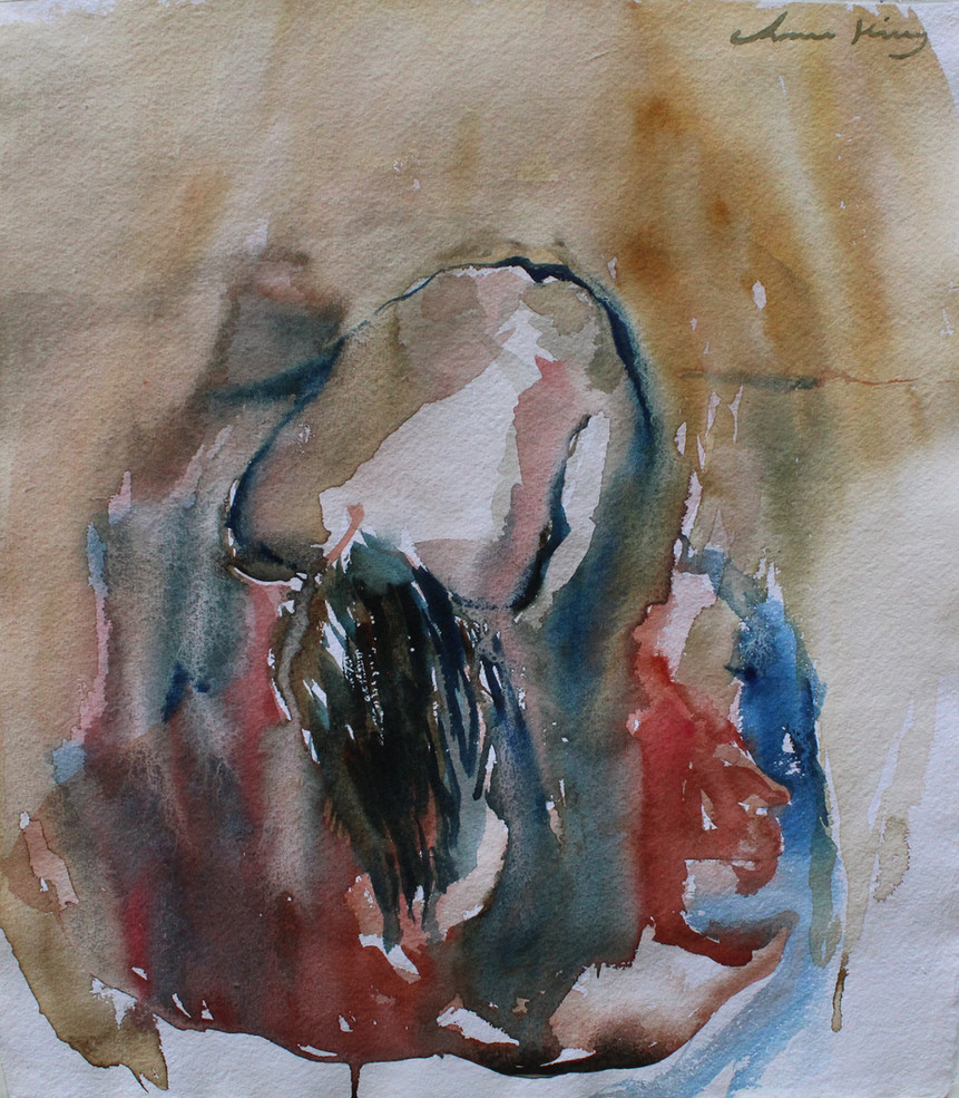 Wet Hair_watercolor on paper_13_x11.75__
