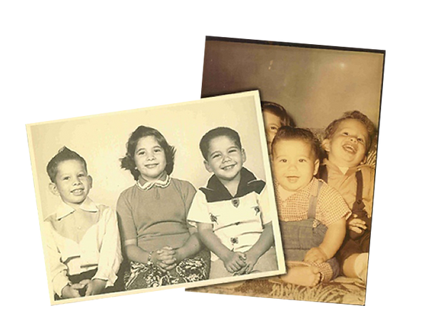 Childhood photos of Neftin family