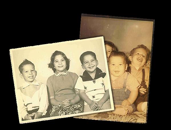 Childhood photos of Neftin family