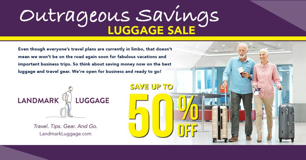 Landmark Luggage Facebook Ad