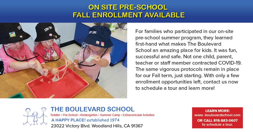 The Boulevard School Facebook Ad