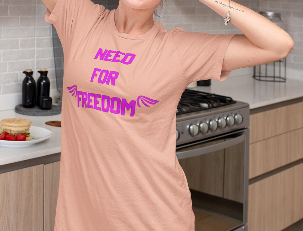 Organic cotton t-shirt dress | need for freedom