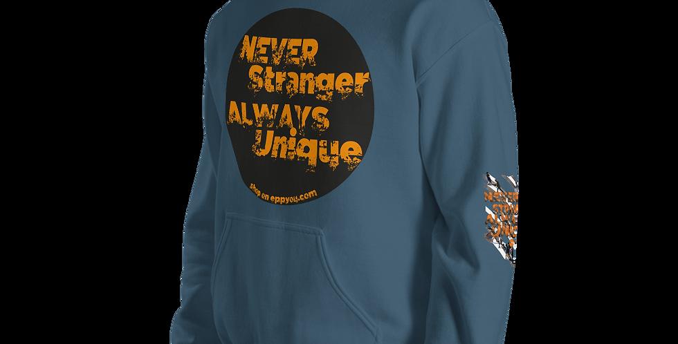 Felpa con cappuccio Heavy Blend unisex | Never Stranger