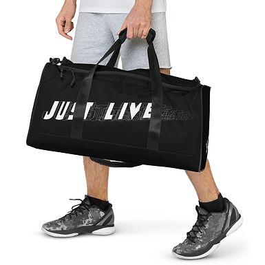 Black Duffle bag | Just Live