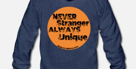 Felpa con cappuccio unisex tri-blend   Never Stranger